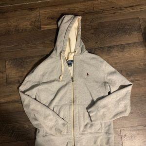 Men's Grey Polo zipper sweatshirt